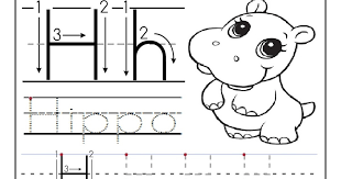 free printable worksheet letter h for your child to learn and
