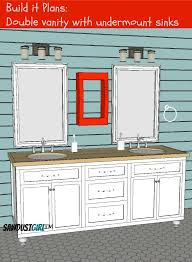 Double Vanity With Center Drawers Free Plans Sawdust Girl - Bathroom vanity design plans