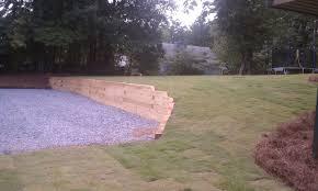 outdoor u0026 garden design interesting landscape timbers raised
