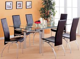 Rectangle Glass Dining Room Tables Ideas To Make A Base Rectangle Glass Dining Table Dans Design Magz