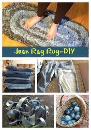 Denim Rag Rug Denim Rug Give Old Jeans New Life Tossed Craft And Repurpose