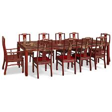 inlaid dining table and chairs 114in rosewood mother of pearl inlaid dining table w 10 chairs