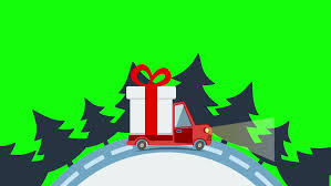 colorful animation of christmas and new year greeting card with