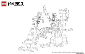 world of ninjago against enemy coloring pages printable