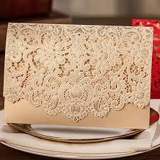 wedding invitations gold 1pcs gold white laser cut luxury flora wedding invitations