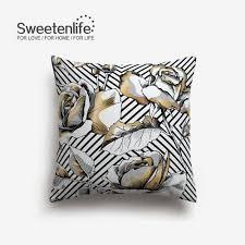 Gold Bed Cushions Online Get Cheap Gold Decorative Pillows Aliexpress Com Alibaba