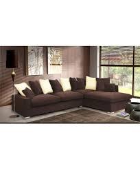 canapé d angle 6 places canapé d angle 6 à 7 places luxe tissu chocolat mousse à memoire