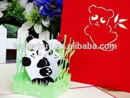 new design cuty panda pop up birthday card buy thanksgiving pop