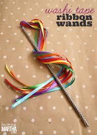 ribbon wands diy washi ribbon wands washi crafts