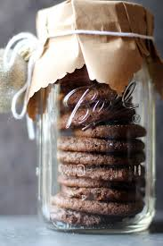 gift cookies in jar with brown paper cover a