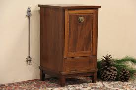 sold cabinet with bin or fireplace coal hod 1900 english