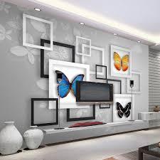 3d Wallpaper Home Decor Online Get Cheap 3d Wall Murals Wallpaper Geometric Aliexpress