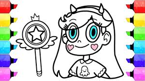 how to draw star vs the forces of evil coloring pages learn art
