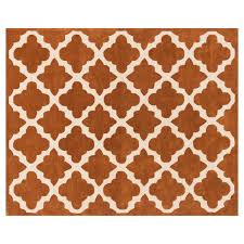 Orange And Brown Area Rugs Ivory And Orange Rust Moroccan Rug 8x10 Ft At Home At Home