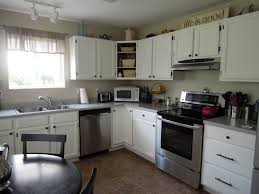 cabinets best l shape antique white oak wood kitchen cabinets
