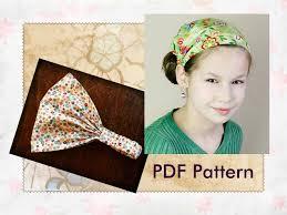 yoga headband tutorial childrens easy fabric headband pattern girls head scarf