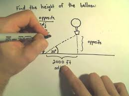 finding the height of an object using trigonometry example 1