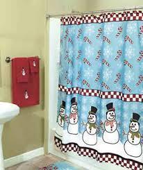 Discount Christmas Shower Curtains Christmas Shower Curtain Funy Snowman Santa Bathroom Decor