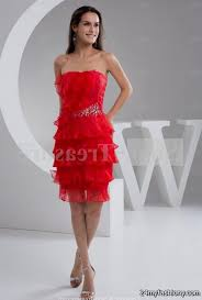 red prom dresses knee length holiday dresses