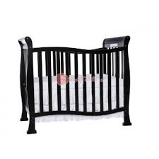 dream on me violet 4 in 1 convertible mini crib black
