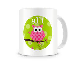 owl mug personalized owl kids mugs personalized cup