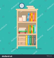 home interior design books vector illustration books on bookshelfhome interior stock vector