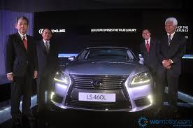 lexus used malaysia lexus malaysia launches new flagship ls lineup wemotor com