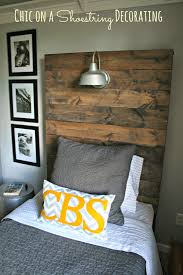 Twin Headboard Plans by How To Build A Rustic Wooden Headboard With An Attached Light