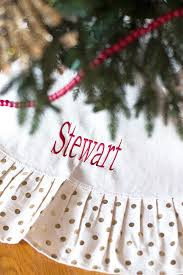 personalized tree skirt personalized christmas tree skirt in 5 pattern options