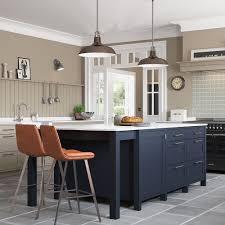 light blue kitchen cabinets uk beautiful freestanding kitchen island in oxford blue