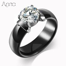 ceramic rings white images A amp n new arrival ceramic rings for women huge zircon cabochon jpg