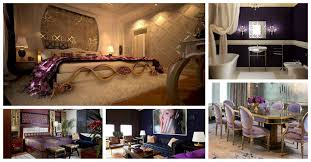wonderful purple and gold interiors you see