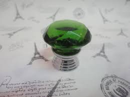 Green Glass Cabinet Knobs 20pcs Furniture Hardware K9 Crystal Glass Pull Handle Knobs