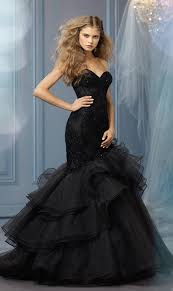 black wedding 25 gorgeous black wedding dresses deer pearl flowers