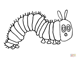 pretty the very hungry caterpillar coloring page eric carle for