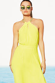 necklace dress images Pretty yellow dress yellow maxi necklace dress 49 00 jpg