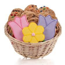 cookie basket tulips cookie basket