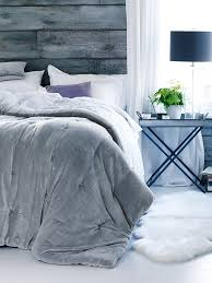 King Size Quilt Coverlet New Velvet U0026 Linen Kingsize Quilt Dove Grey Bed U0026 Bath