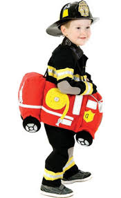 Fireman Costume Toddler Boys Reflective Firefighter Costume Party City