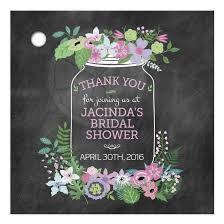 bridal shower favor tags jar purple and pink flowers bridal wedding shower gift favor tag