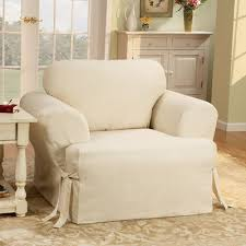 chair slipcovers t cushion sure fit cotton duck t cushion armchair slipcover reviews wayfair