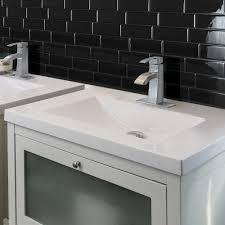 Smart Tiles Metro Nero  In W X  In H Peel And Stick - Smart tiles backsplash