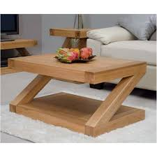 Solid Oak Coffee Table Z Solid Oak Designer Furniture Coffee Table
