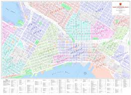 Portland Oregon Neighborhood Map by Central Business District Maps Kroll Map Company