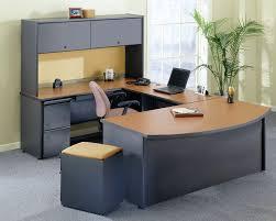 remarkable u shaped brown black wooden best home office desk brown