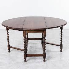 Early Th Century French Solid Oak Gateleg Barley Twist Dining - Gateleg kitchen table