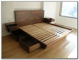 Make Platform Bed Storage by Best 25 High Platform Bed Ideas On Pinterest High Bed Frame