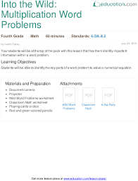 multi digit multiplication and word problems education com