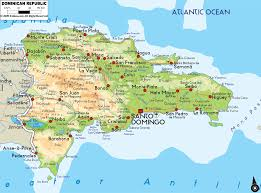 North America Physical Map Dominican Republic Large Physical And Road Map Description From