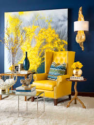 trendy color combinations for modern interior design in blue and